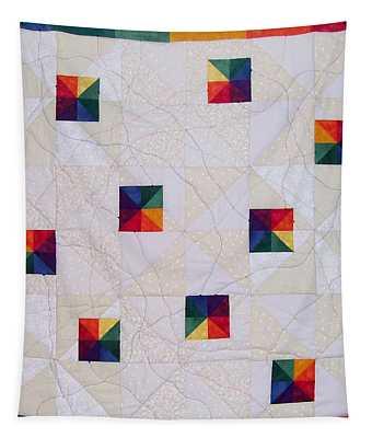 Rainbow Pinwheel Tapestry