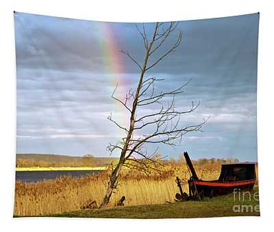 Rainbow Sound Over The River Oder Tapestry