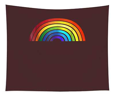 Rainbow T-shirt Simple Style Basic Glossy Stripe Design Tapestry