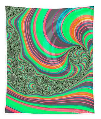 Rainbow Whirlpools In The Ocean Fractal Abstract Tapestry