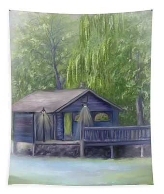 Rainy Day Fishing Tapestry