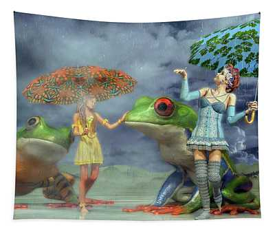 Rainy Day Friends Tapestry