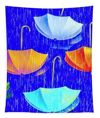 Rainy Day Parade Tapestry
