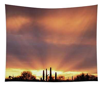 Rainy Day Sunset Tapestry