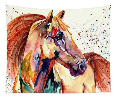 Rainy Horse Tapestry
