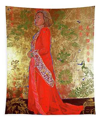 Raise The Red Lantern Tapestry