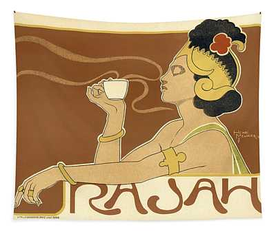 Rajah Lady Drinking Tea Tapestry