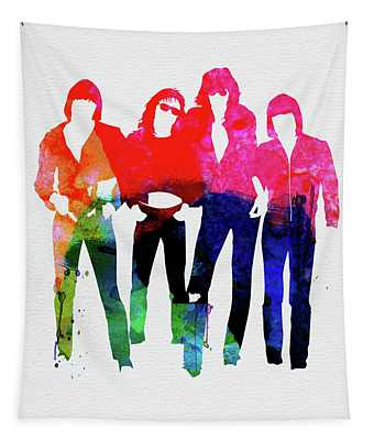 Ramones Watercolor Tapestry