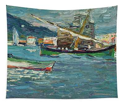 Rapallo Grey Day - Grauer Tag  Tapestry