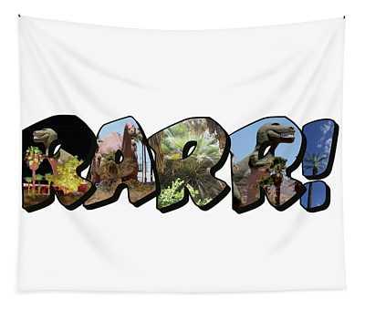 Rarr Big Letter Dinosaurs Tapestry