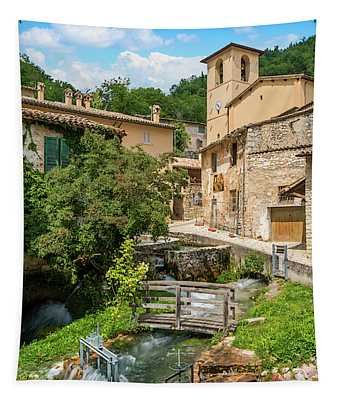Rasiglia, Small Village Near Foligno. Tapestry