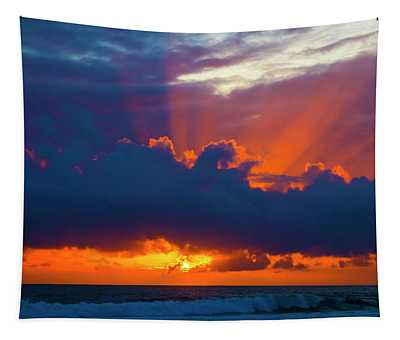 Rays Of Light Over The Ocean Tapestry