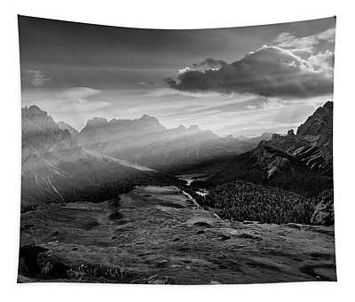 Rays Over The Dolomites II Tapestry