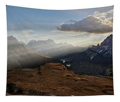 Rays Over The Dolomites Tapestry