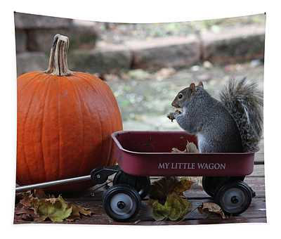 Ready To Ride My Little Red Wagon Tapestry