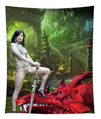 Rebel Dragon Slayer Tapestry