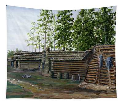 Rebel Huts, Port Hudson, Louisiana 1863 Tapestry