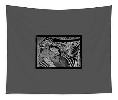 Reclining With Pillows Tapestry