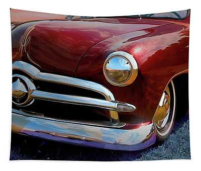 Red 1950 Ford Traditional Custom Tapestry