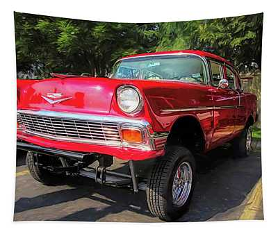 Red 1956 Chevy Gasser Tapestry