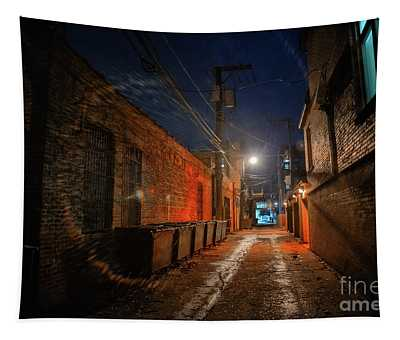 Red Alley Tapestry