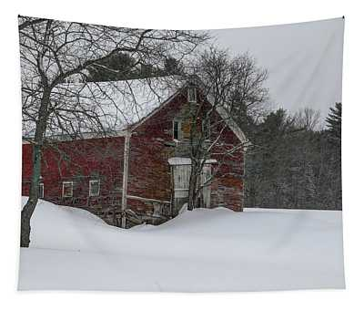 Red Barn--new Sharon Tapestry