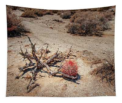 Red Barrel Cactus Tapestry