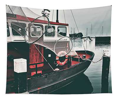 Red Boat Retro Tapestry