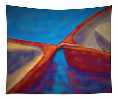 Red Boats Tapestry