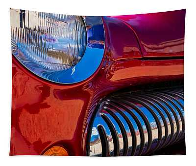 Red Car Chrome Grill Tapestry