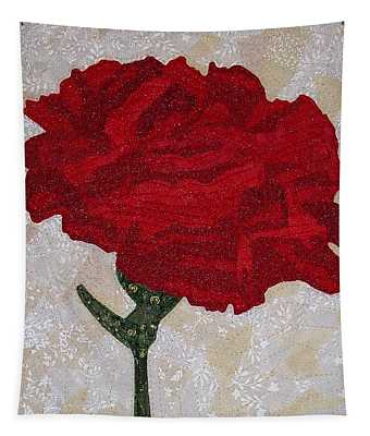 Red Carnation Tapestry