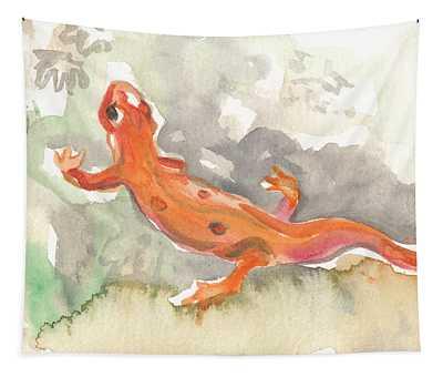 Red Eft Tapestry