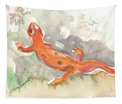 Red Eft Tapestry