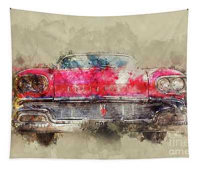 Red Oldsmobile Tapestry