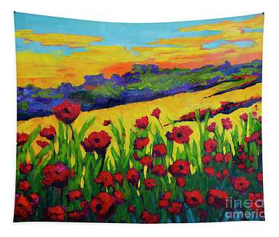 Red Poppies In Spring Tapestry