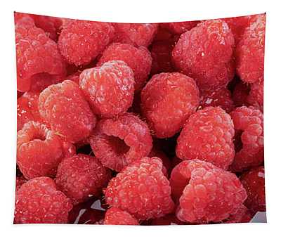 Red Raspberries In A Bowl Tapestry