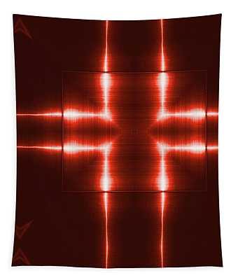 Red Reflecting Metallic Surface. Technological  Background.  Tapestry