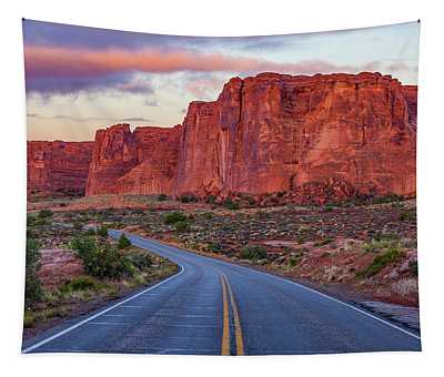 Red Rocks Road Tapestry