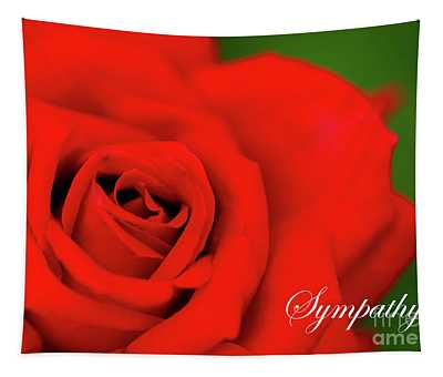 Red Rose Sympathy Tapestry