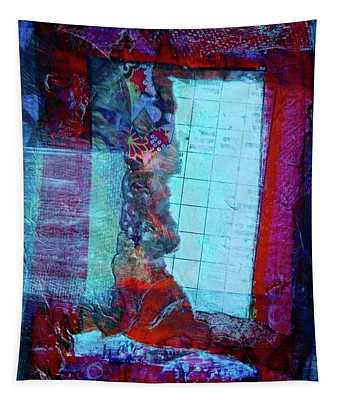 Red Window Tapestry