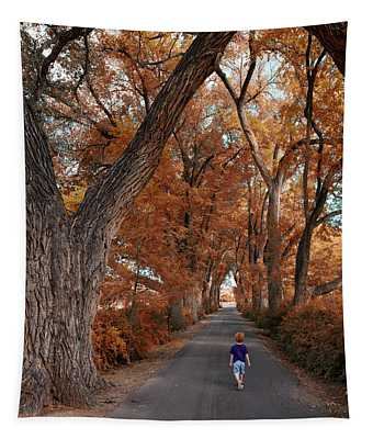 Redhead Fall Walkabout Tapestry