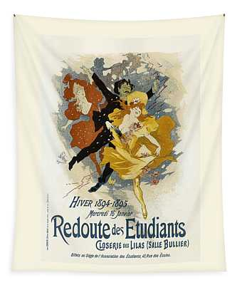 Redoute Des Etudiants Vintage French Advertising Tapestry