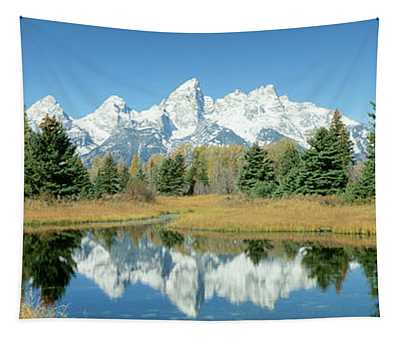 Reflection Of Mountains In Water, Grand Tapestry