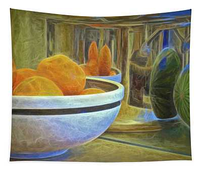 Reflections In A Pot  Tapestry
