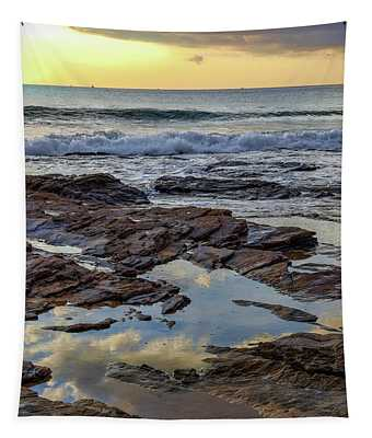 Reflections On The Rocks Tapestry