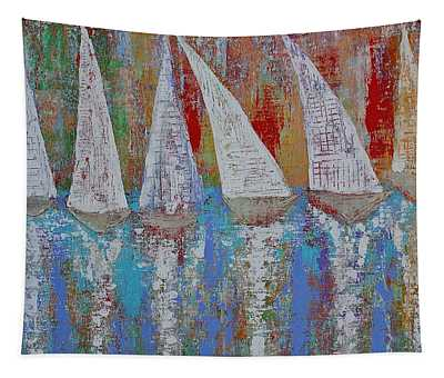 Regatta Original Painting Tapestry