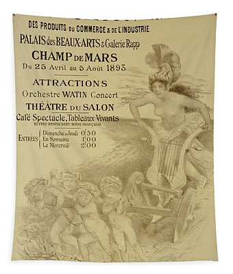 Reproduction Of A Poster Advertising An International Exhibition Of Commercial And Industrial Produ Tapestry