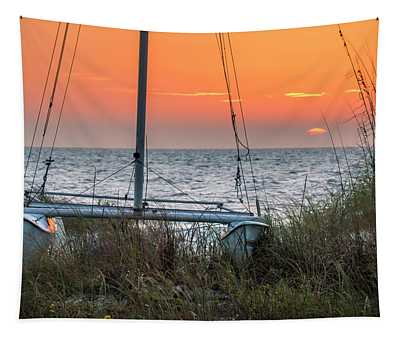 Resting On The Beach Tapestry
