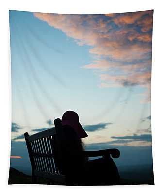 Resting Silhouette Tapestry