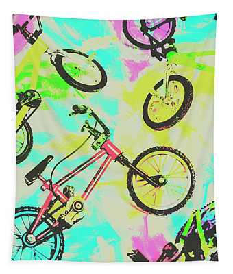 Retro Rides Tapestry